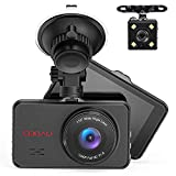 Front and Rear Dual Dash Cam Super Night Vision 1080P Full HD Dashboard in Car DVR Camera with 170°Wide Angle, Parking Monitor, WDR, G-Sensor, Motion Detection, Loop Recording