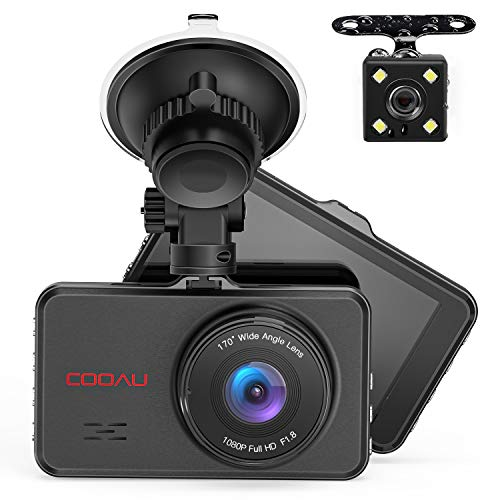 Front and Rear Dual Dash Cam Super Night Vision 1080P Full HD Dashboard in Car DVR Camera with 170°Wide Angle