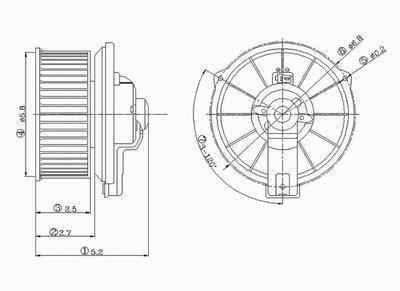 1994 honda accord blower motor - 9