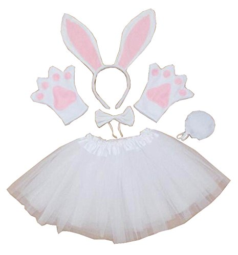 [Show Costume Props Animal Performance Costume Party Costume Rabbit White] (White Rabbit Dance Costumes)