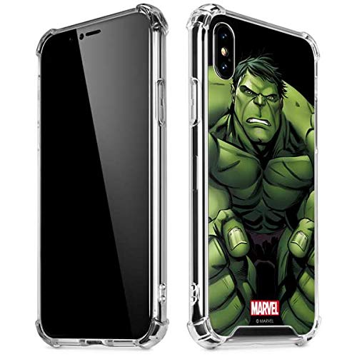 official photos d8d52 d9989 Amazon.com: Skinit Hulk is Angry iPhone X/XS Clear Case - Officially ...