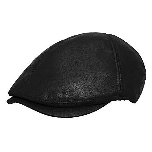 EASTONE Flat Cap Newsboy Beret Ivy Cap Irish Cabbie Driver Hat (Dark Brown)