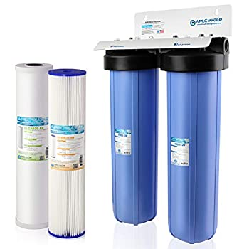 Image of APEC 2-Stage Whole House Water Filter System with Sediment and Carbon Filters (CB2-SED-CAB20-BB)