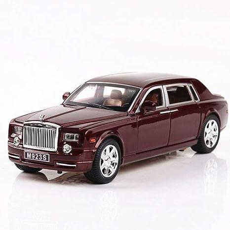 1:24 Rolls-Royce Phantom Diecast Model Car Toy Sound/&Light Black//Red in Box Gift