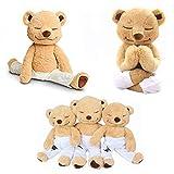 JZH Flexible Remodelable Pose Yoga Bear Cute Bear Soft Plush Toys. (M)