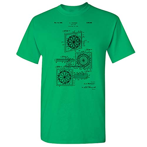 - Dart Board T-Shirt, Darts Player Gift, Pub Games, Tavern, Bar Game, Pool Hall, Dive Bar, Gameroom, Pub Sports, Pub Shirt Irish Green (XL)