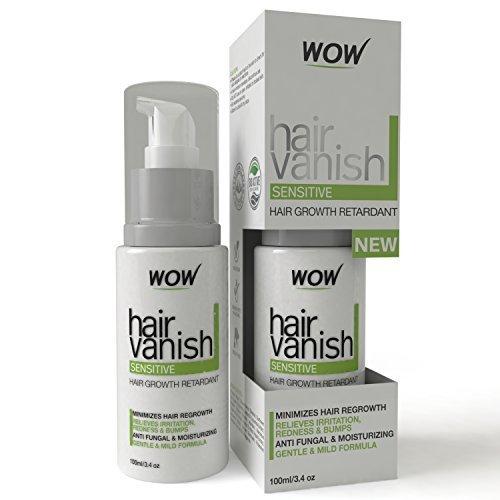 WOW Hair Vanish for Sensitive Skin - 100ml / 3.4oz - Hair Removal For Sensitive Areas Like Bikini Area