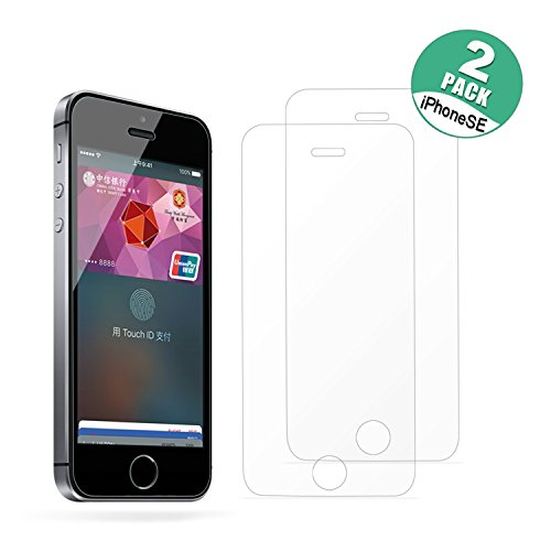 [2-Pack]IPhone SE HD Screen Protector, Hapurs Tempered Glass - Iphone 5s Screen Protector Glass