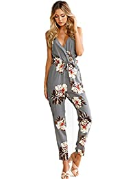 5a6a1ef001 Women Sexy Lace V-Neck Jumpsuits Rompers Short Pants (S