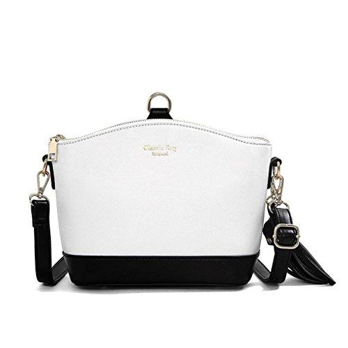 NVBAO Borsa della signora borsa della spalla elegante alla spalla borsa di scuola di acquisto delle scuole di Shell, taro color white