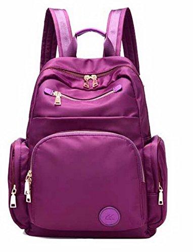 AgooLar Femme ordinateur dos Violet pour portable Nylon GMBBB180699 dos Daypack Sacs à à Sacs wZq4SU