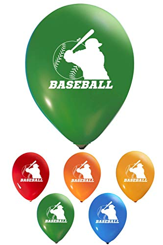 Baseball Balloons - 12 Inch Latex - 2 Sided Print (16 Count) for Birthday Parties or Any Other Event Use - Fill with Air or Helium]()