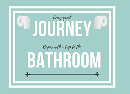 Bathroom Guest Book: Funny Log Restroom Housewarming Gag Gift for Family Friend Coworker To Sign In Write Humorous Messages Fill in and Decor Your New ... Perfect Blue&White Toilet Paper Cover Design