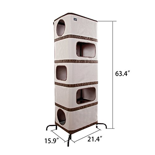 chic cat furniture. Perfect Cat Chic Lightweight Cat Tree Deluxe Play TowerPlay HouseCat Condos For  Multiple Cats Intended Chic Furniture