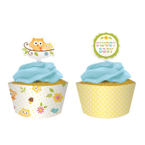 Creative Converting Shower Cupcake Wrappers