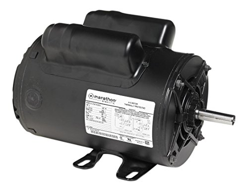 Marathon 9040 56 Frame Open Drip Proof 5KCR48UN2654Y Air Compressor Motor, SPCL hp, 3600 rpm, 230 VAC, 1 Phase, 1 Speed, Ball Bearing, Capacitor Start/Capacitor Run, Rigid Base (56 Frame Capacitor)