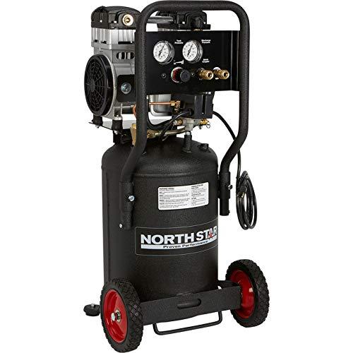 NorthStar Electric Air Compressor – 1.5 HP, 8-Gallon Vertical Tank, Portable, Quiet Operation
