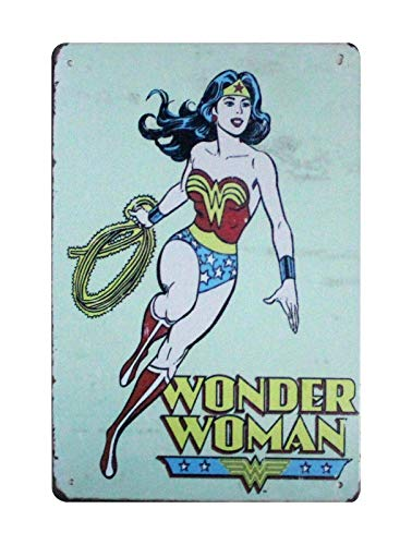 ShopForAllYou Decor Signs Wonder Woman Lasso tin Metal Sign Wall hangings for Bedroom