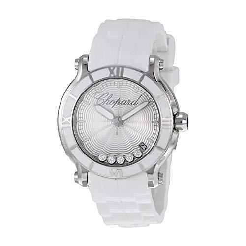 - Chopard Happy Sport Silver Dial Floating Diamond Ladies Watch 278551-3001