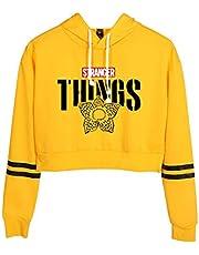SERAPHY Trendy Television Series Hoodies New Season Crop Top Hooded Sweatshirts High Waist Hoodies for Girls/Women-A14449-Yellow-S