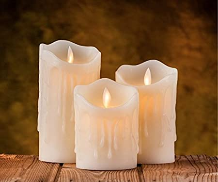 Auslese� Realistic Swing Wave Port Flameless Flickering LED Electronic Candle Light for Home Decoration and Diwali - (9 Extra Battery) (3)