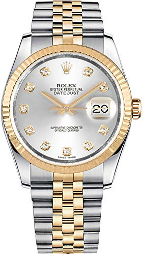 Rolex Datejust 36 Silver Dial Set with Diamonds Luxury Watch 116233
