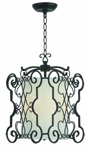 World Imports 7503-42 Amelia Collection 3-Light Iron Pendant, Rust ()