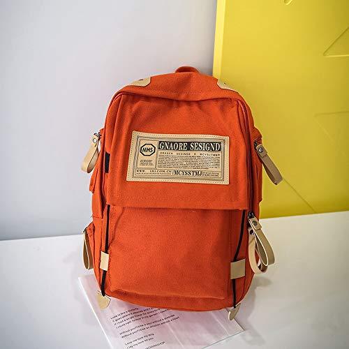 Poches Backpacks Orange Grande Hommes Elégant Étudiant D'école Ville À Voyage Bag Multiples Zycshang Femmes Main Sac Bandoulière Capacité Travail Fourre Loisirs tout De tvBwRBSq