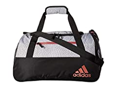 Head to your next training session with the adidas Squad IV Duffle. You'll be able to neatly organize all your gear with a roomy zippered main compartment, interior organization pockets, front zip pocket, mesh side pocket and separate shoe po...
