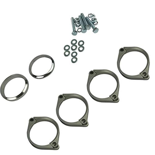 Topker Stainless Steel Exhaust Flange Muffler Back Box Repair Rusted Flange Clamp Kit Replacement for E46 M3 Z4M by Topker (Image #2)