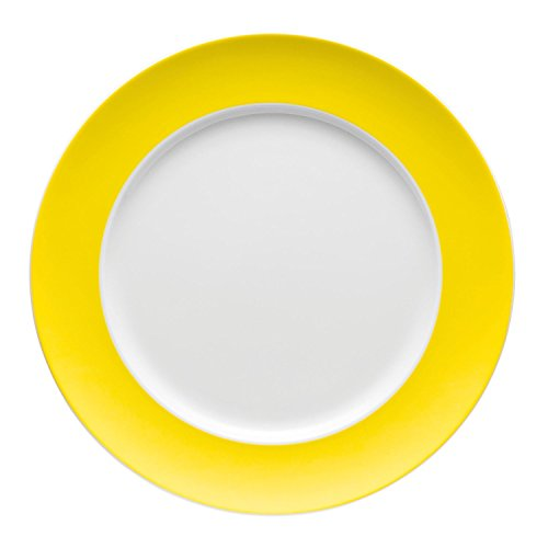Thomas Sunny Day Dining and Grill Plate, Porcelain, Neon Yellow, Dishwasher Safe, 27 cm, 10227
