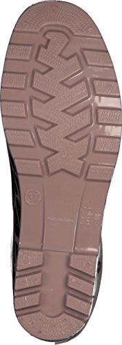 Gosch Shoes Sylt - Mujer Caña media Botas de agua 7101-501 Reptil en 2 colores negro rosado