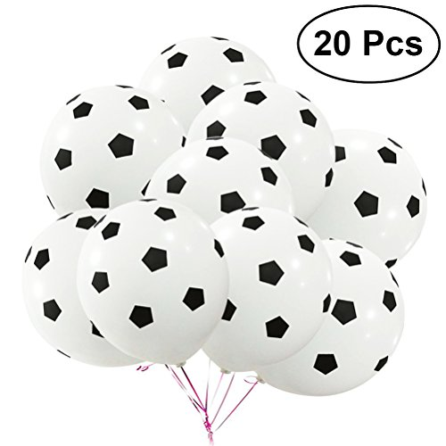 TOYMYTOY 20Pcs Party Balloon Soccer Birthday Latex Rubber Balloons Kit for -