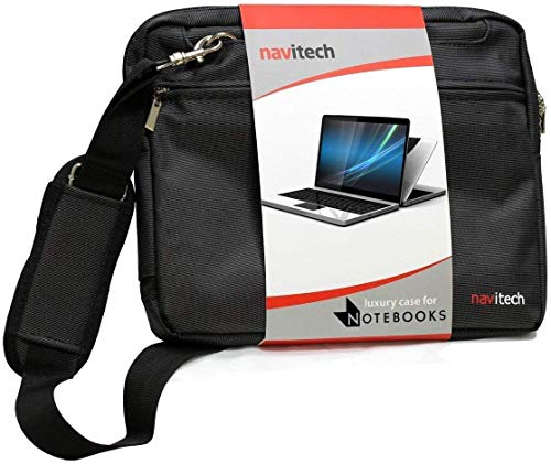 Navitech Black Premium Messenger/Carry Bag Compatible with The MSI GL63 8SC-059 15.6