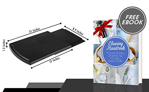 "2pcs Coffee 12"" Handy Caddy Tray Smooth Base Drawer Under Hold for Maker Toaster Kitchen"