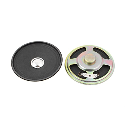 Price comparison product image uxcell 2Pcs 76mm Dia 8 Ohm 3W Metal Shell Ultra-thin Internal Mini Speakers Magnetic Loudspeaker