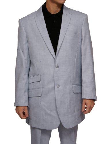 New Mens Studio Ferera Modern Fitted 2 Button Light Blue Dress Suit