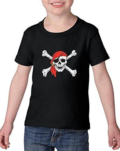 Artix Jolly Roger Skull Crossbones Pirate Booty Belt for Pirate Costumes Best Friend Gifts Heavy Cotton Toddler Kids T-Shirt Tee Clothing 3T (John Cena Pants Belt)