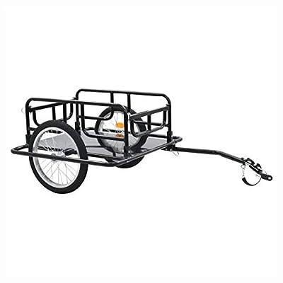 "HomyDelight Bicycle Trailer, Bike Trailer 51.2""x28.7""x19.7"" Steel Black"