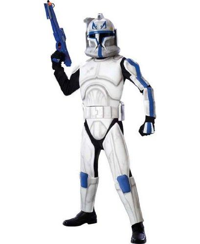 Rubies Star Wars Clone Wars Child's Clone Trooper Deluxe Captain Rex Costume, -