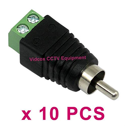 - FidgetFidget Cable to AV Phono Male RCA Connector Jack Plug for CCTV10pcs UTP RJ45 CAT5 CAT6