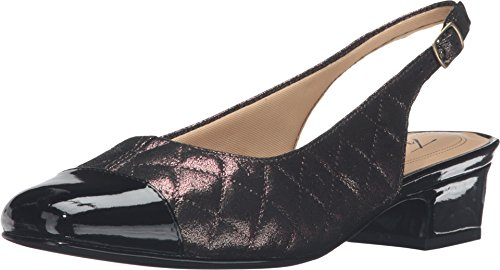 (Trotters Women's DEA Multi Quilted/Black Pearlized Patent Pump 6 WW (EE))