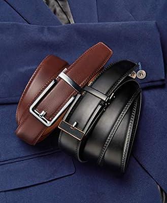 """Men's Belt Gift Set,Click Ratchet Belt Dress with Sliding Buckle1 3/8""""–Adjustable Exact Fit"""