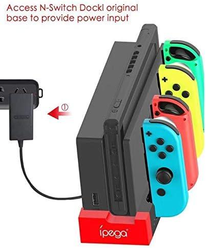 KEHUITONG IPega PG-9186ゲームコントローラー充電ドックは、インジケータと任天堂スイッチ喜びコンゲームコンソールの駅ホルダー充電スタンド