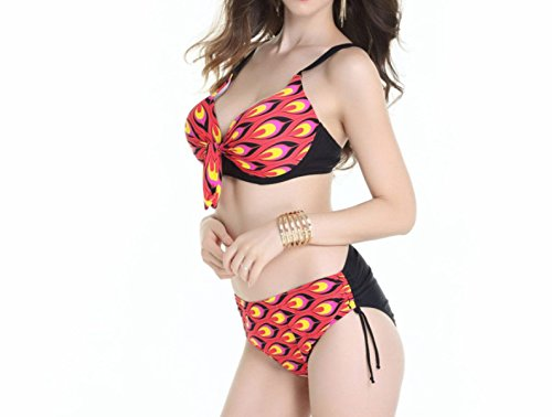 Bikini KUWOMINI.Woman Estilo Patrón De Fantasía Bikini Dama De La Moda De Playa Purple