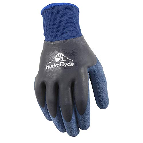 Mens HydraHyde Cold Weather Work Gloves, Water-Resistant Latex Double Coating, X-Large (Wells Lamont 575XL)