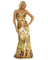 Formal Beaded Print Dress Prom Bridesmaid formal gown
