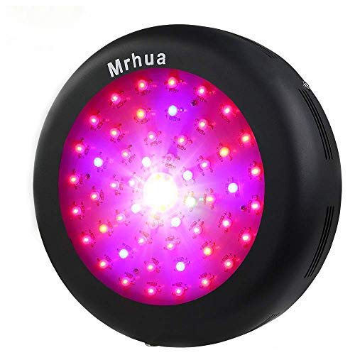 Mrhua LED Plant Grow Light for Indoor Plants 300W UFO Plant Growing Lamp Full Spectrum with CREE COB and UV & IR Bulbs for Veg and Flower Hydroponics Garden Tent Home Potted