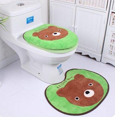 ¿De microfibra y funda para tapa de inodoro y la alfombra de baño WC de