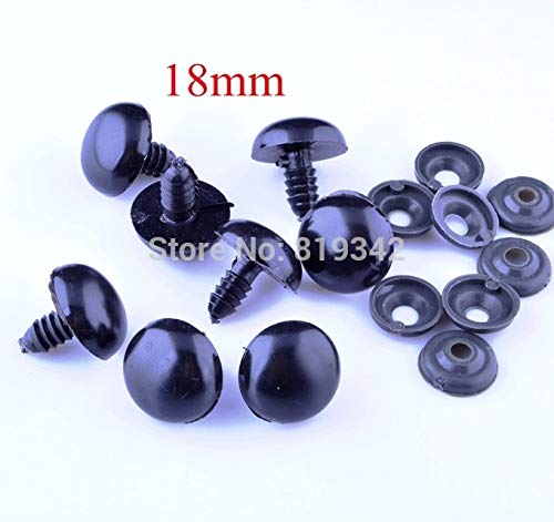 18 mm 40Pcs Lot Plastic Doll Eyes Eye Safety Accessories Handmade Puppet Animal Collage Making